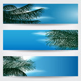 Beautiful sky banner set Royalty Free Stock Photos