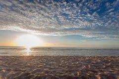 Beautiful sky. On the Beach Stock Photo