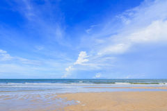 Beautiful sky with beach and tropical sea Stock Images