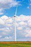 Beautiful sky with big wind turbine Stock Images