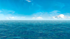 Beautiful sky and blue ocean Stock Photos