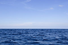 Beautiful sky and blue ocean Royalty Free Stock Photography