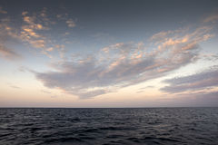 Beautiful sky and blue ocean Royalty Free Stock Images