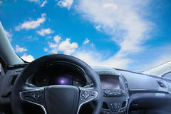 Beautiful sky from car salon Stock Photo