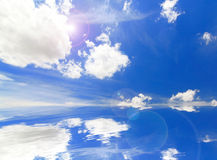 Beautiful sky and cloud background Royalty Free Stock Photos
