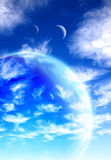 Beautiful sky, cloud and planet Stock Images