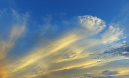 Beautiful sky. And cloud in sunset for background Royalty Free Stock Photography
