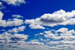 The beautiful sky with clouds Royalty Free Stock Images