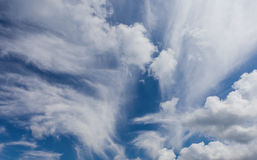 Beautiful sky with clouds stock images