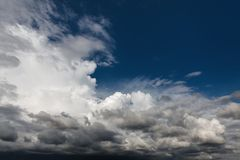 Beautiful sky with clouds. Abstract natural background with clouds. Beautiful sky with clouds stock image