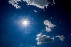 Beautiful sky with clouds in the afternoon royalty free stock image