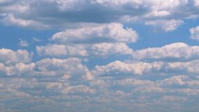 Beautiful sky with clouds background. Soft white clouds. Panorama.