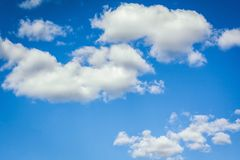 Beautiful sky and clouds. Beautiful blue sky with clouds on a sunny day royalty free stock photo