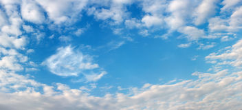 Beautiful sky and clouds frame Royalty Free Stock Images