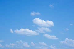 Beautiful sky with clouds in Royalty Free Stock Images