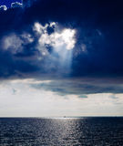 Beautiful sky and clouds over the  Azov  sea Royalty Free Stock Images