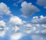 Beautiful sky and clouds over horizon. Royalty Free Stock Photos