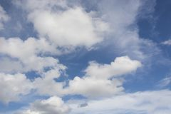 A beautiful sky and clouds scene. A beautiful sky and clouds scene if a beautiful blue sky stock images