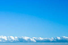 Beautiful sky with clouds  in spring Stock Photo