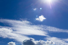 Beautiful sky with clouds Royalty Free Stock Photography