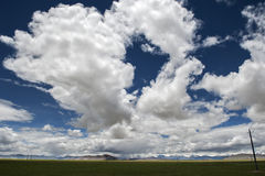 Beautiful sky and clouds in tibet Royalty Free Stock Photography