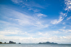 Beautiful sky and clound with sea Stock Images