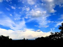 Beautiful sky in connecticut. Blue sky and white clouds in the sky in  connecticut united states Stock Photo