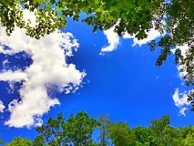 Beautiful sky in connecticut. Blue sky and white clouds in the sky in  connecticut united states Stock Images