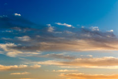 Beautiful Sky at Dusk Royalty Free Stock Photography