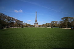 Beautiful Sky at Eiffel Tower Paris France. Eiffel Tower The Best destination Royalty Free Stock Photo