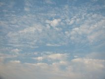 Beautiful sky in the evening, floating clouds, cool white When the sun is going to hide the horizon. Beautiful natural skies, floating clouds In the morning stock images