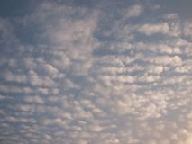 Beautiful sky in the evening, floating clouds, cool white When the sun is going to hide the horizon. Beautiful natural skies, floating clouds In the morning stock image