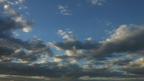 Beautiful sky with fluffy clouds stock video footage