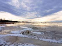 Beautiful sky and frozen sea. Beautiful scenary of sky and frozen sea Stock Photography