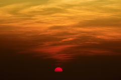 Beautiful Sky Glory Red Sunset/Sunrise. At High point of view Royalty Free Stock Image