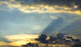 Beautiful sky with golden sunset Stock Image