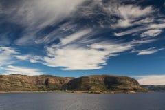 Beautiful sky at the Helgeland coast Royalty Free Stock Images