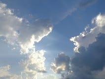 Beautiful sky, indigo colors, naturally scatter stock photo