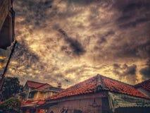 Beautiful Sky. In Jakarta royalty free stock photography