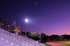 Beautiful sky light in sport stadium. And field stock image