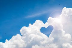 Beautiful sky with love background. Happy concept and freedom style. Clouds space stock images