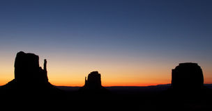 Beautiful sky at Monument Valley Stock Photos