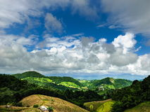 Beautiful sky and mountain scenery. Beautiful sky and mountain scenery during a trip on the road in northern Thailand Royalty Free Stock Images