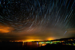 Beautiful sky at night Stock Photography