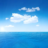 Beautiful sky and ocean. Sea summer shot Stock Photos