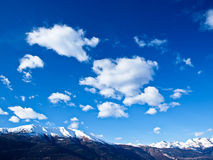 Beautiful sky over the alps. A landscape shot at Lake Como, Italy Royalty Free Stock Images