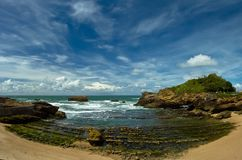 Beautiful sky over Bay of Biscay Royalty Free Stock Photos
