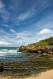 Beautiful sky over Bay of Biscay Royalty Free Stock Image