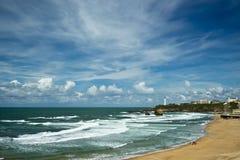 Beautiful sky over Biarritz, France Stock Photo