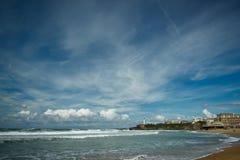 Beautiful sky over Biarritz, France Stock Image